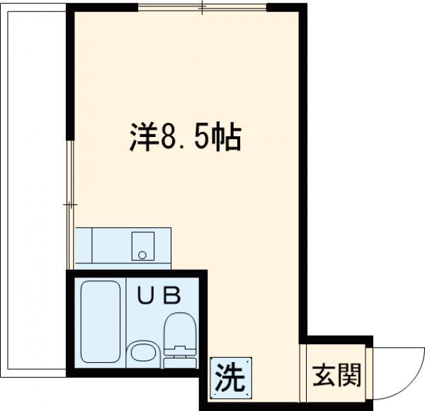 セジュールSEIKO・201号室の間取り