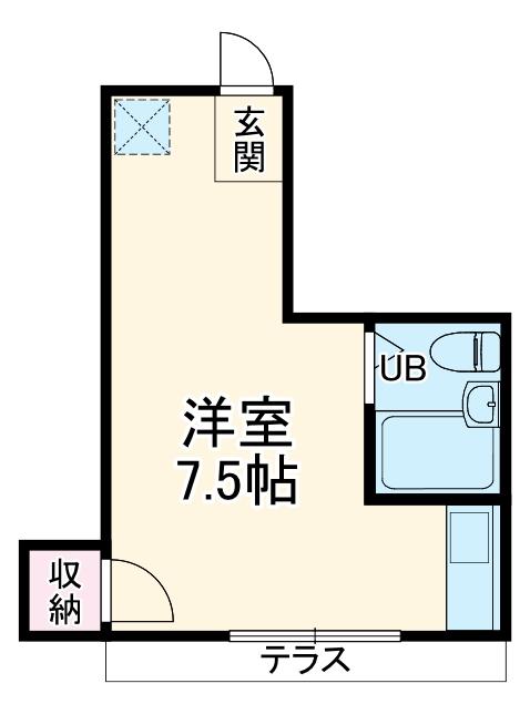 ファーストヒル江田 102号室の間取り