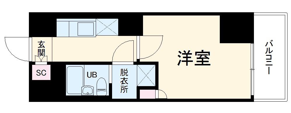 ビエント横濱鶴見 502号室の間取り