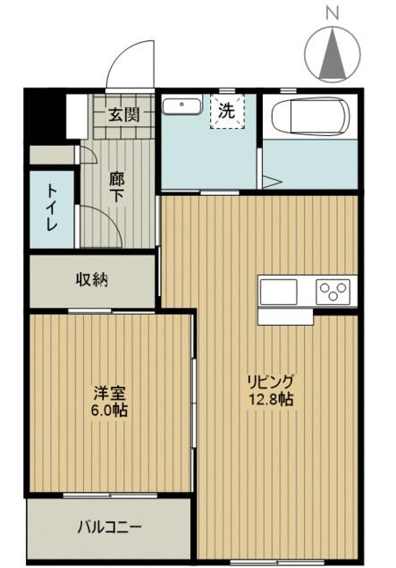 田畑ハイツルシアスⅡ 302号室の間取り