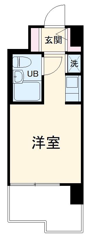 ユーコート洋光台・203号室の間取り