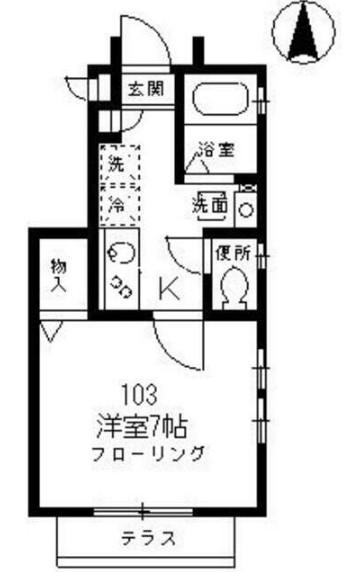 サンコート高円寺南・B103号室の間取り