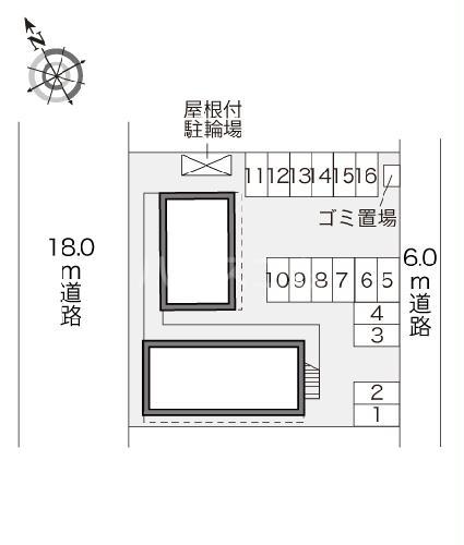 レオパレスMONEⅡ 209号室の駐車場