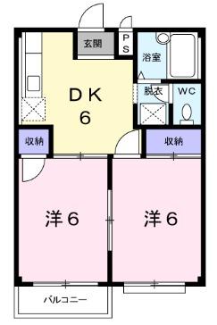 グランドハイツ篠崎Ⅲ・02030号室の間取り
