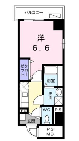 笹山ハイツ・06030号室の間取り
