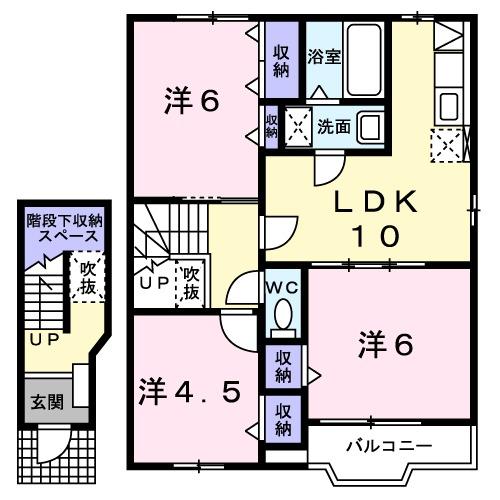 プリムロ-ゼ B 02020号室の間取り