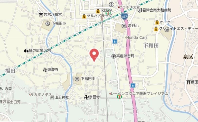 ロイヤルヒルズ 03040号室の地図