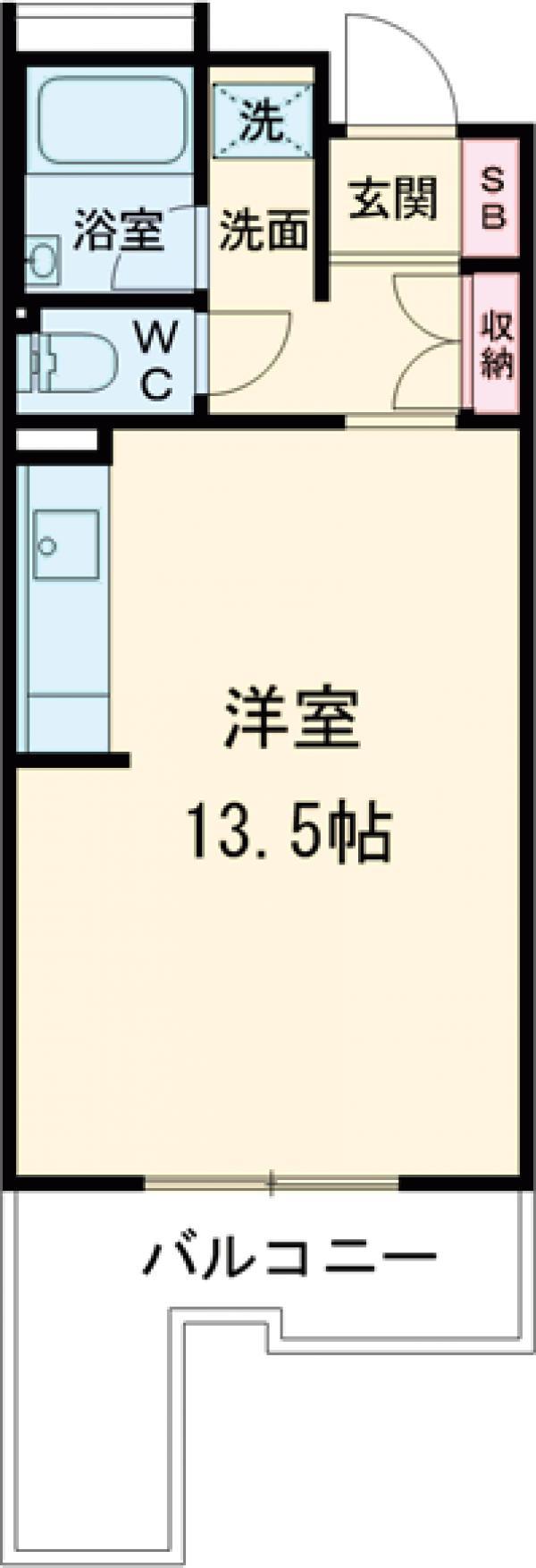 コーポレート西大井・205号室の間取り