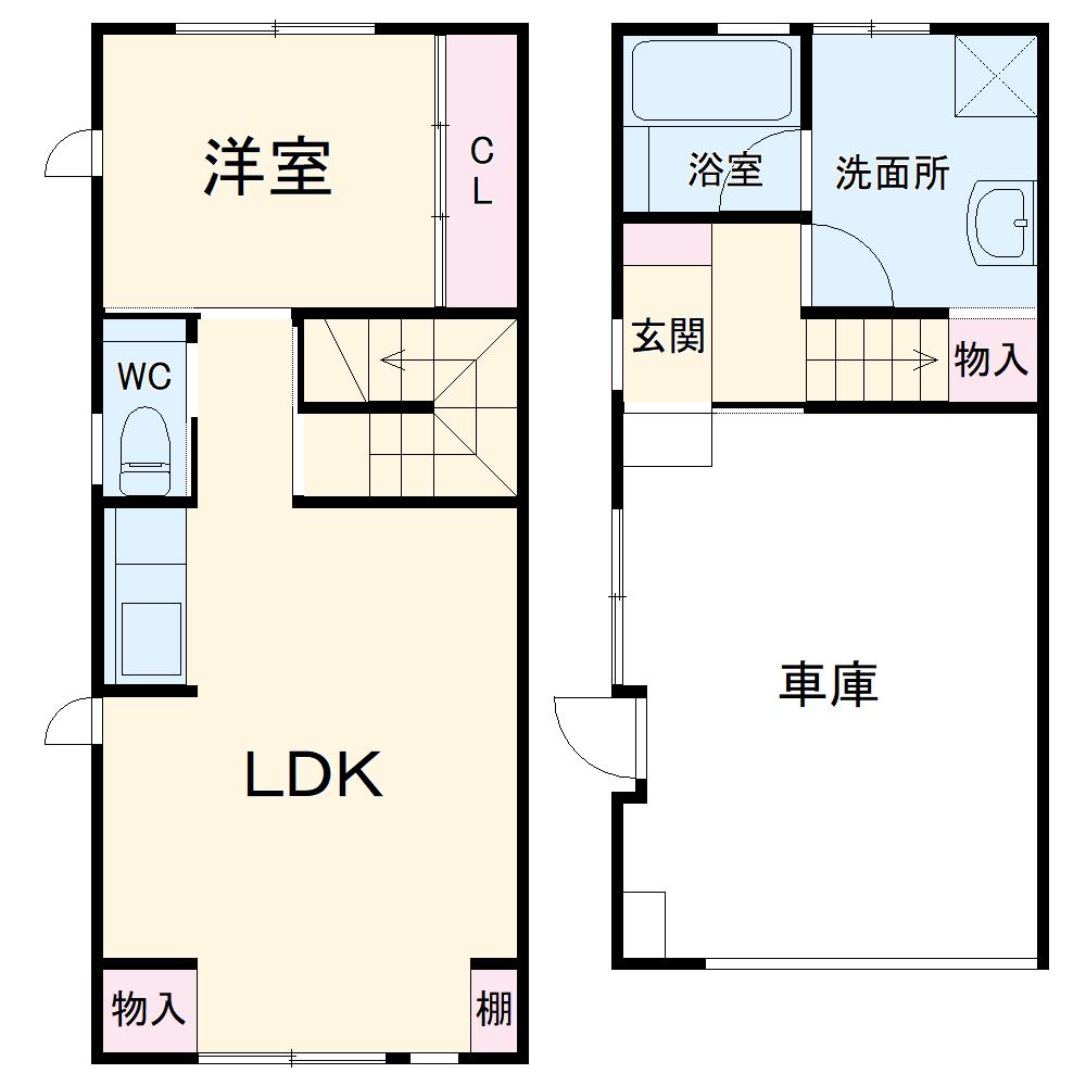 仮)五位田インナーガレージ付住宅南棟 102号室の間取り