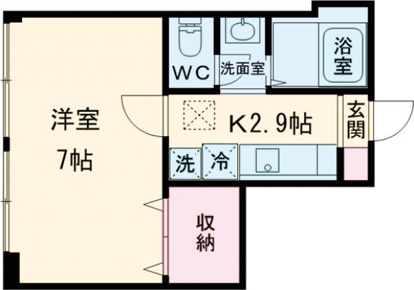 ルセーレ西早稲田・102号室の間取り