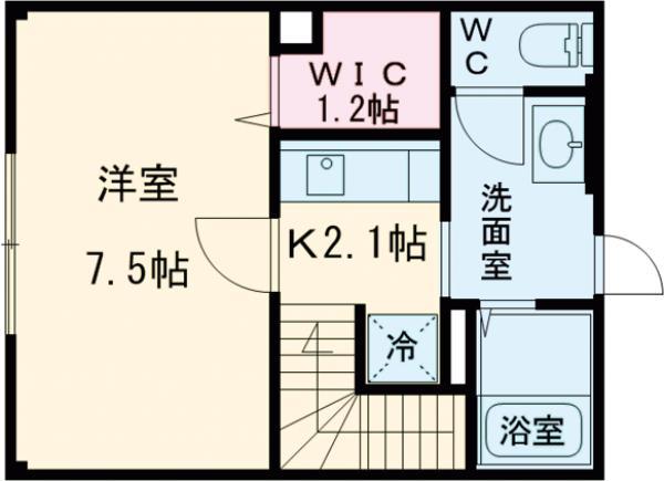 ルセーレ西早稲田・202号室の間取り
