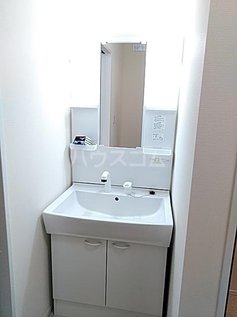 Cielo D号室の洗面所
