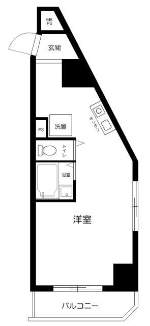 五反田ダイヤモンドマンション 916号室の間取り
