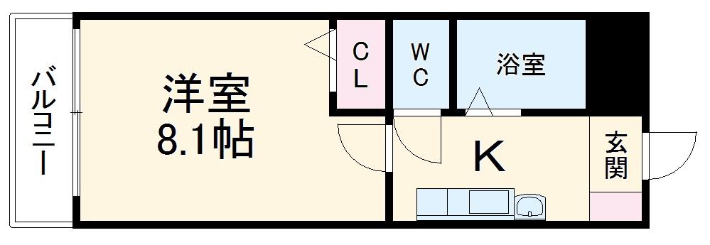 クリサンセマム青山Ⅱ・302号室の間取り