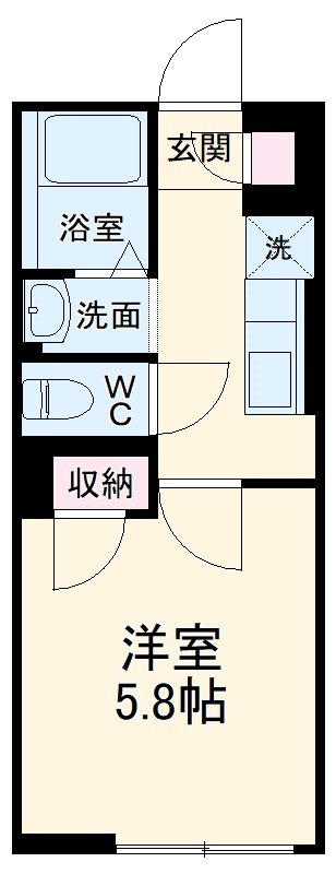 ヴィアロ高島平レジデンスA 201号室の間取り