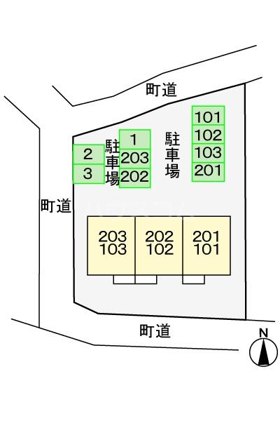 サニ-リゾン 01020号室の駐車場