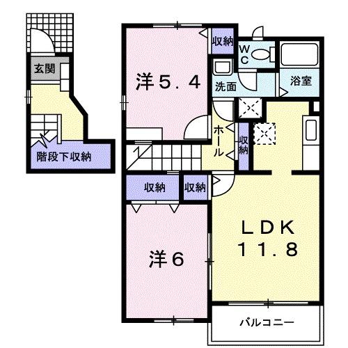 メゾン・ファミーユ 02020号室の間取り
