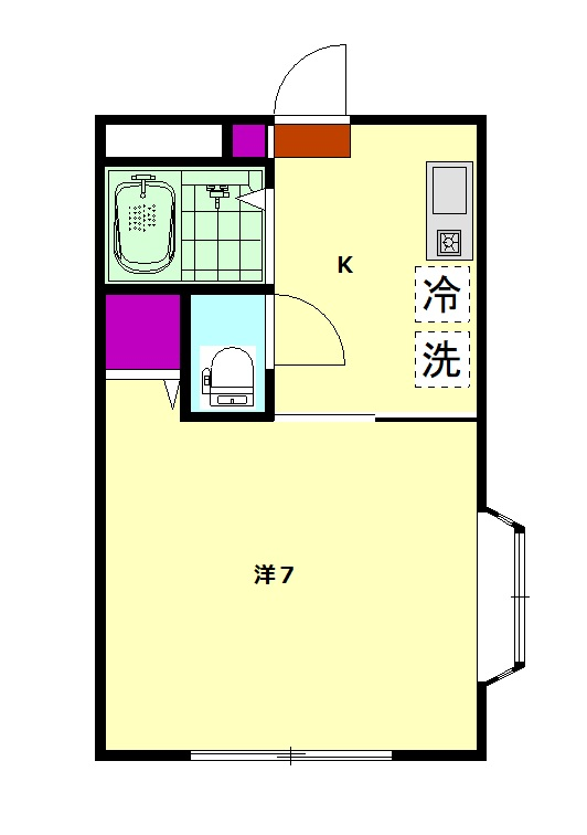 メゾンHIROⅡ・203号室の間取り