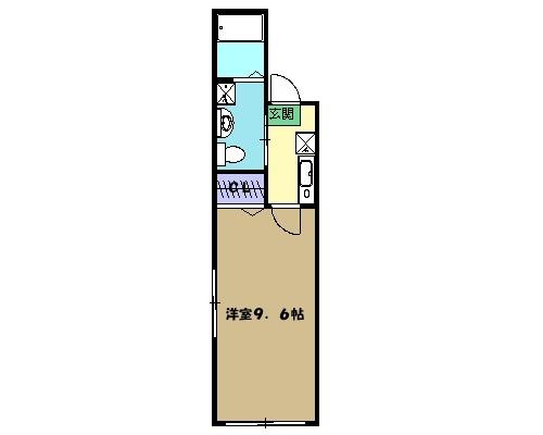 レジデンシャルCUBE日吉本町 201号室の間取り
