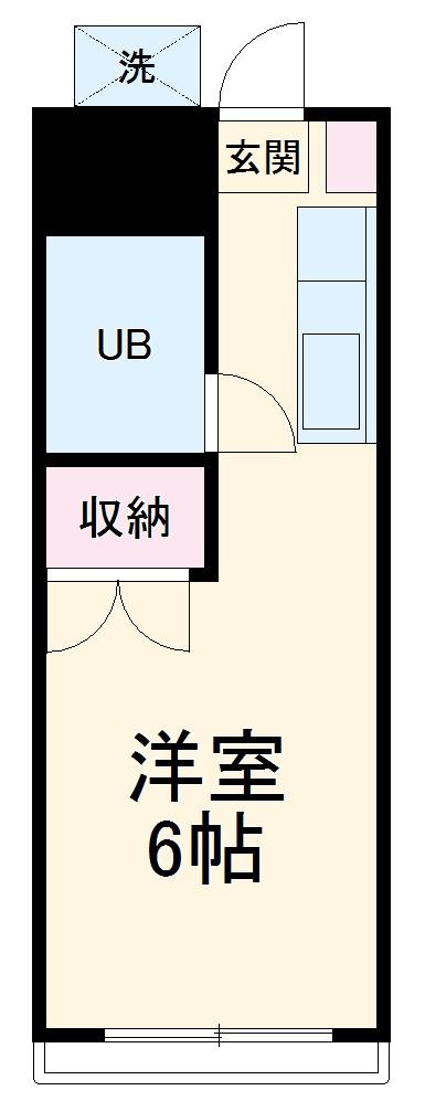 内田ハイツ・102号室の間取り