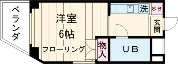 M・IビルⅤ・305号室の間取り