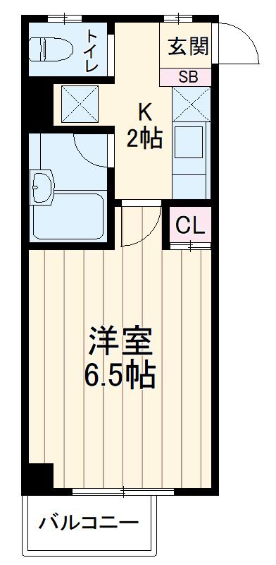 ソレイユ三宿・102号室の間取り