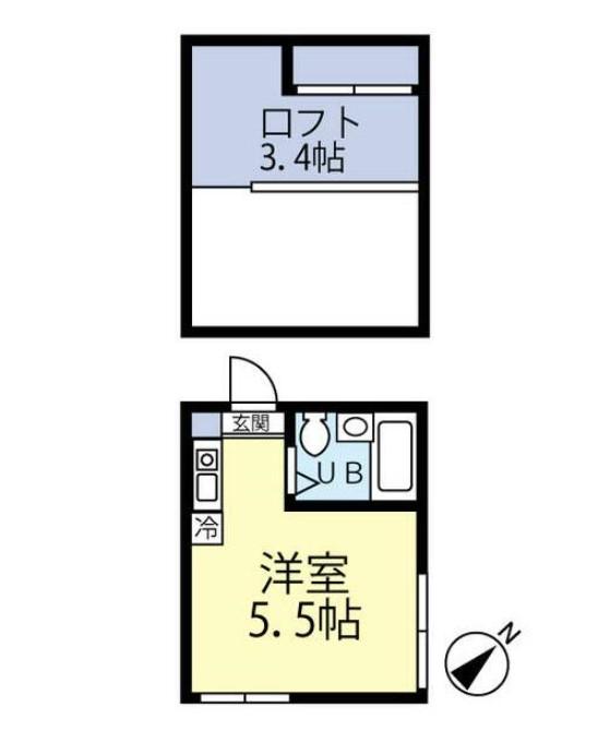 マイプラン中野坂上・201号室の間取り