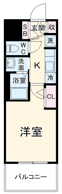 エステムコート名古屋黒川シャルマン・1105号室の間取り