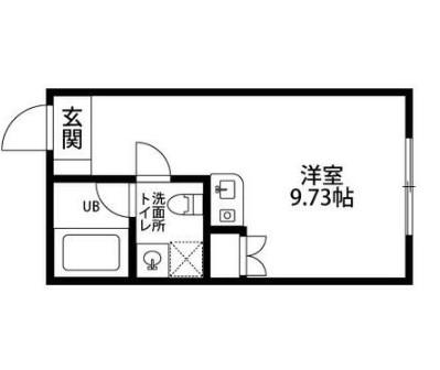 ザ バロン西新宿3116・302号室の間取り