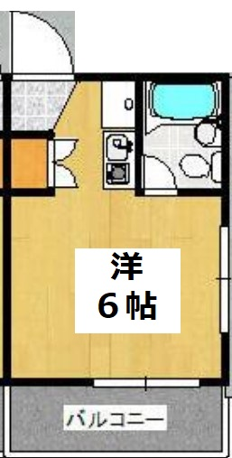 サンハイツⅡ・201号室の間取り