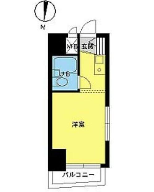 スカイコート下高井戸・701号室の間取り