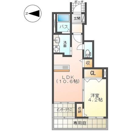 (仮称)平塚市真田新築アパート 107号室の間取り