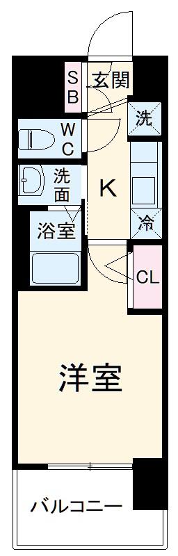 エステムコート名古屋黒川シャルマン・506号室の間取り