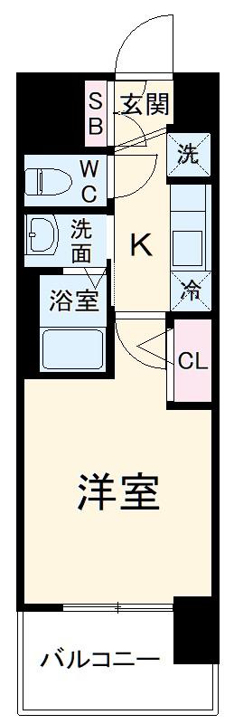エステムコート名古屋黒川シャルマン・806号室の間取り