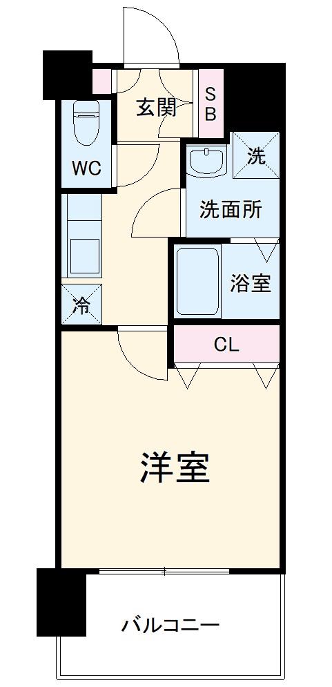 エステムコート名古屋黒川シャルマン・507号室の間取り