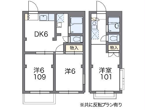 レオパレスANNEX新川崎・308号室の間取り