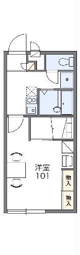 レオパレスグローリーハウス24・109号室の間取り