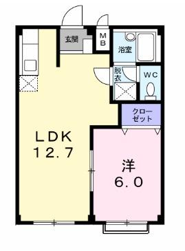 ピュア・デュエットA・01020号室の間取り