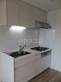 大島住宅 1010号室のキッチン