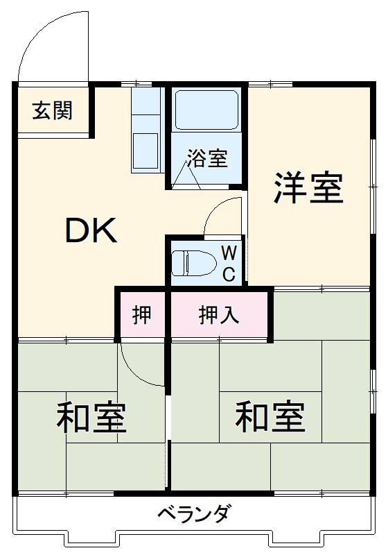 松本ハウス・106号室の間取り