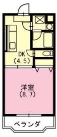 クラスト弐番館・103号室の間取り