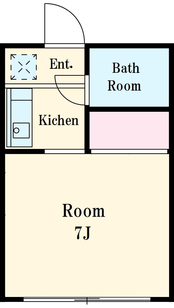 的場アパート平塚・101号室の間取り