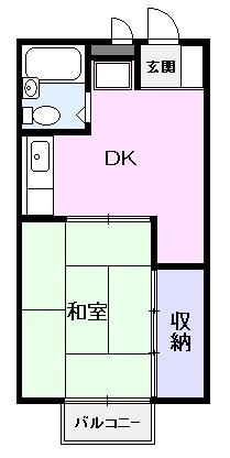 ドミール横山 02060号室の間取り