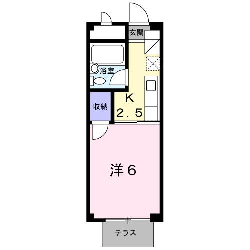 コ-ポユリ・01010号室の間取り