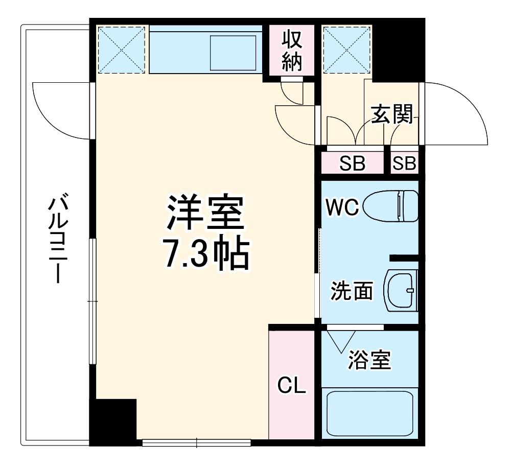 横浜翠葉BuildingⅠ・503号室の間取り