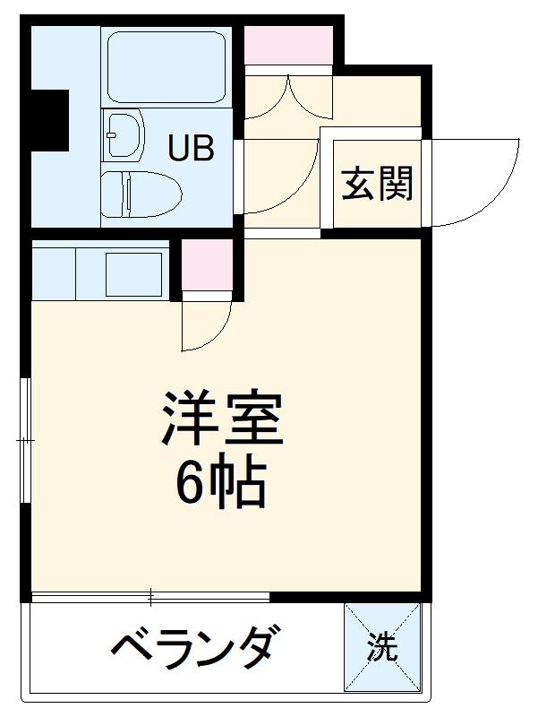 望洋荘・3-A号室の間取り