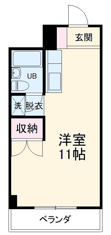 セゾンドカサハラⅠ・207号室の間取り
