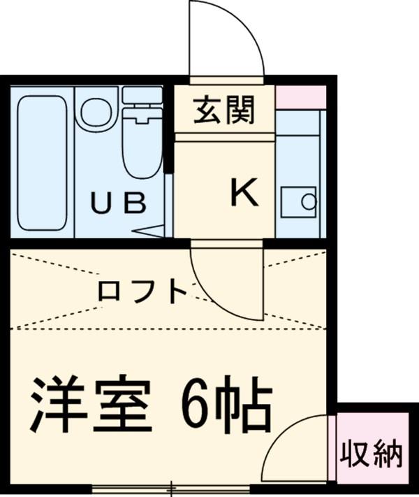 レジデンス平塚・104号室の間取り