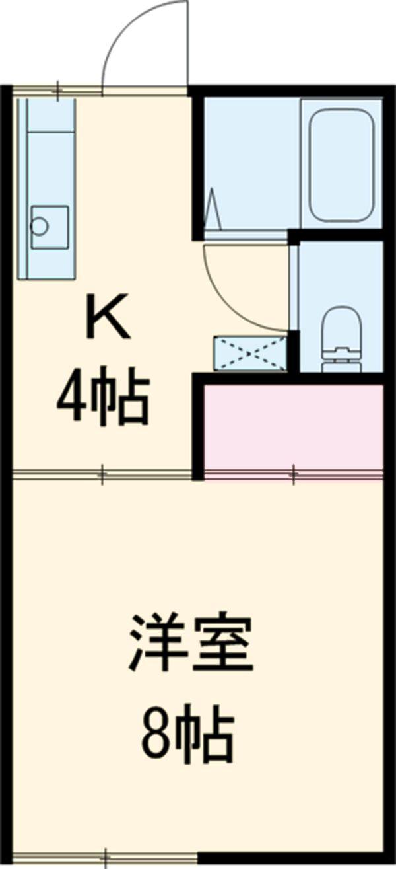 ファミーユ吉野・203号室の間取り