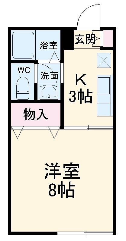 ウェルネス横浜・201号室の間取り